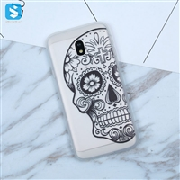 White Matte lace printing TPU phone case for Samsung Galaxy J3 (2017)