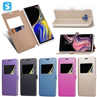 visible diamond pattern PU case for Samsung Galaxy Note 9