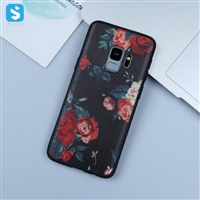 black Matte emboss TPU phone case for Samsung Galaxy S9