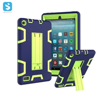 silicone PC with stand case for Amazon Fire 7(2017)