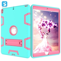 silicone PC with stand case for iPad Pro 10.5