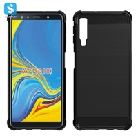 Carbon Fiber TPU shockproof case for SAMSUNG  Galaxy A7 2018 (A730F)
