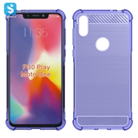 Carbon Fiber TPU phone case for Motorola P30 Paly