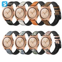 silicone Genuine leather watchband for Samsung Galaxy Watch
