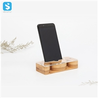 wood speaker phone stand