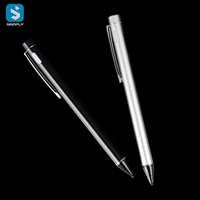 rechargeable Metal touch pen with clip