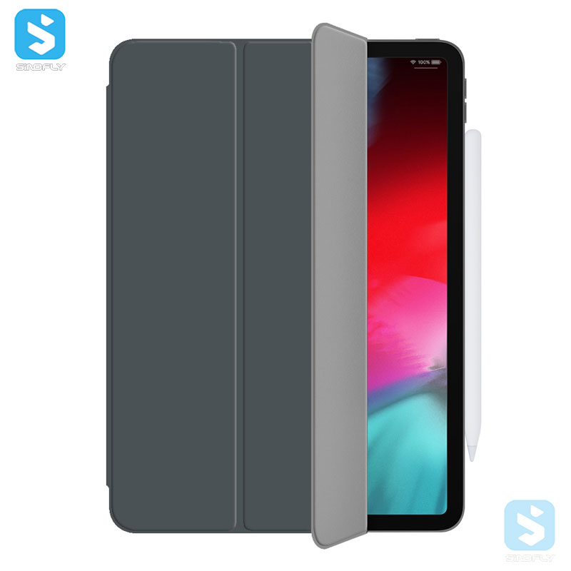3-fold kickstand magnet case for new iPad Pro 12.9(2018)