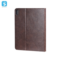 Imitation cow skin with pen holder TPU bottom case for ipad pro 11