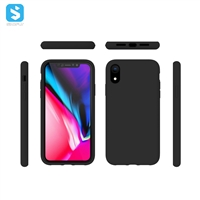 liquid silicone with Soft Microfiber Lining full cover for iphone XS MAX