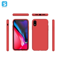 liquid silicone with Soft Microfiber Lining full cover for iphone X(S)