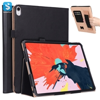 Vintage PU leather case with hand strap for ipad pro 11