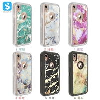 PC TPU marble phone case for iphone XR