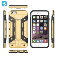 TPU PC with stand phone case for iphone 6(S) Plus