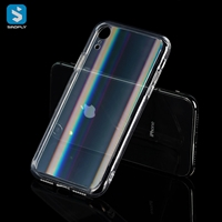 Laser colorful Tempered Glass TPU Phone case for iphone X(S)