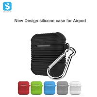 Silicone case + strap for airpod