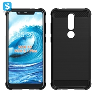 TPU carbon fiber phone case for Nokia 5.1 Plus (2018 ,X5)