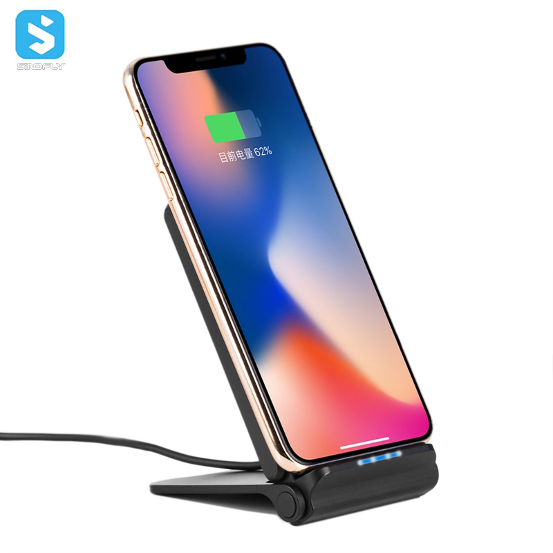 10W fast charge wireless charger fold stand