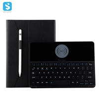 9.7 inch Detachable keyboard case with wireless charger for ipad 9.7 2017/2018