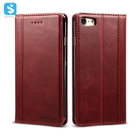 Calfskin pattern genuine leather case for iphone 7 8