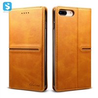 Calfskin pattern leather case for iphone 7 8 plus