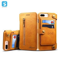 2 in 1 Calfskin pattern universal leather case for iphone 6 7 8 plus