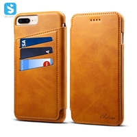 Calfskin pattern Universal leather case for iphone 6 7 8 plus