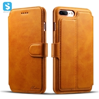 Calfskin pattern wallet leather case for iphone 7 8 plus