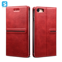 Calfskin pattern leather case for iphone 7 8