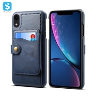 Cowhide lines leather case for iPhone XR