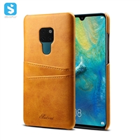 Cowhide lines insert card case for Huawei Mate 20
