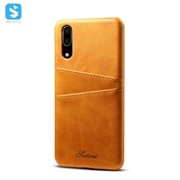 Cowhide lines insert card case for Huawei P20