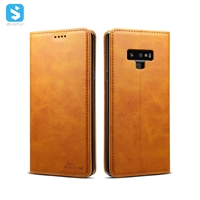 Cowhide lines leather case for Samsung Galaxy Note 9