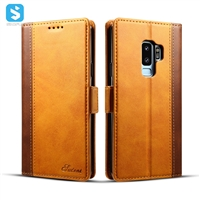 Cowhide lines insert card case for Samsung Galaxy S9