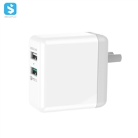 18W QC 3.0 Dual USB fast charger