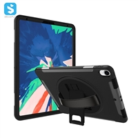 360 Rotation Hand Strap Case for iPad Pro 12.9 2018