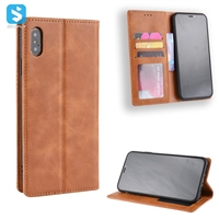 Retro style PU leather case for iPhone XS MAX