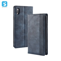 Retro style PU leather case for iPhone XR