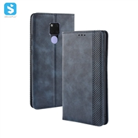 Vintage leather cover with magnetic buckle for Huawei Mate 20X