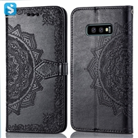 PU leather emboss phone case for Samsung Galaxy S10 Lite