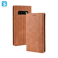 retro leather cover with magnetic for Samsung Galaxy S10 Lite