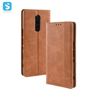 Retro style PU leather case for Sony Xpeia XZ4 Compact