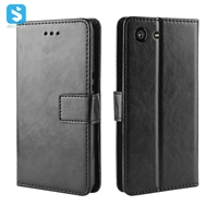 Crazy Horse PU leather case for SONY  Xperia XZ4 Compact