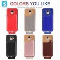 TPU PU leather case for Samsung Galaxy J6 2018/J600F