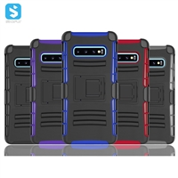 TPU PC belt case for Samsung Galaxy S10 Plus