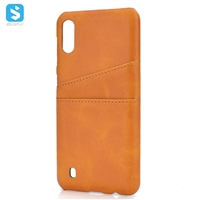 PU leather back cover for Samsung Galaxy M10