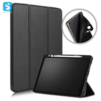3 fold PU leather case with pen slot for ipad pro 11 2018