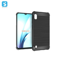 Carbon fiber TPU phone case for Samsung Galaxy A10