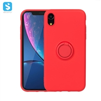 liquid silicone with ring case for iphone XR