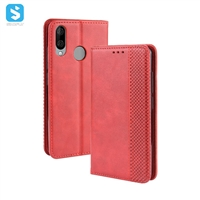 Magnetic TPU PU leather case for Wiko View 3 Lite