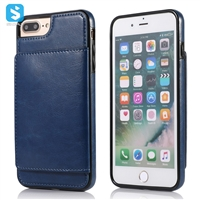 PU leather back cover with card slot for iPhone 7 8 Plus